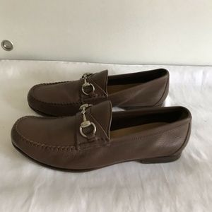 Gucci Shoes - GUCCI Unisex Brown Leather Loafers